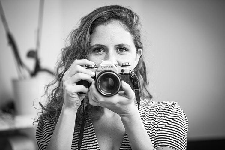 Portrait, canon old camera, dublin, woman