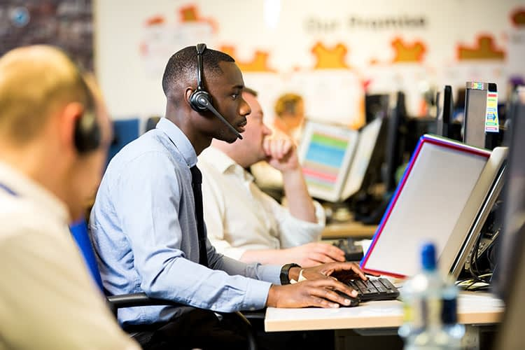 headset, man, telesales, agents, help desk