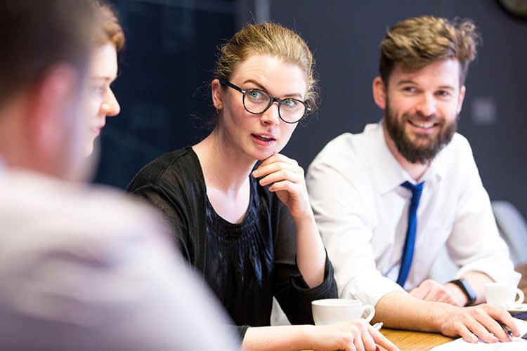 Stock imagery, woman, meeting, corporate, website content