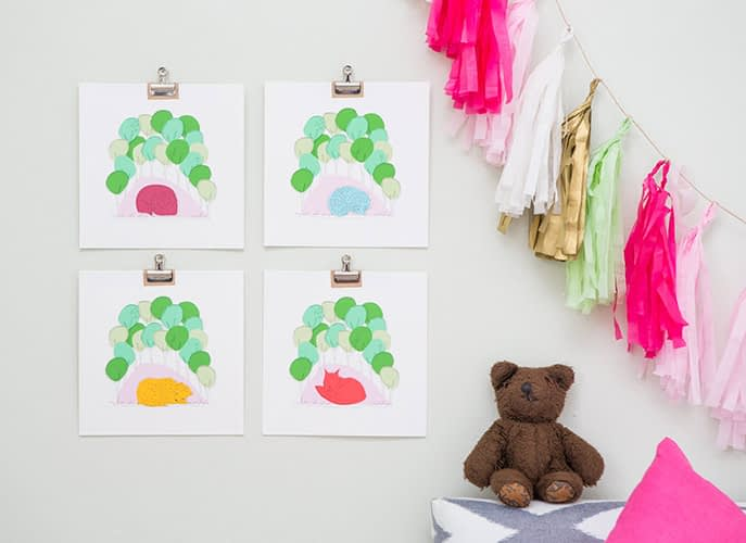 pictures, childs room, teddy,