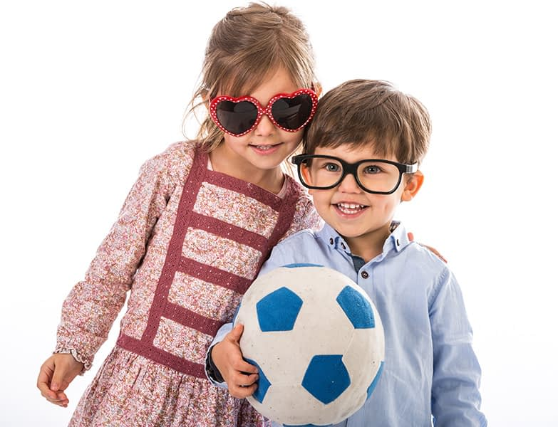 brother and sister together, glasses, portrait, studio, dublin, football