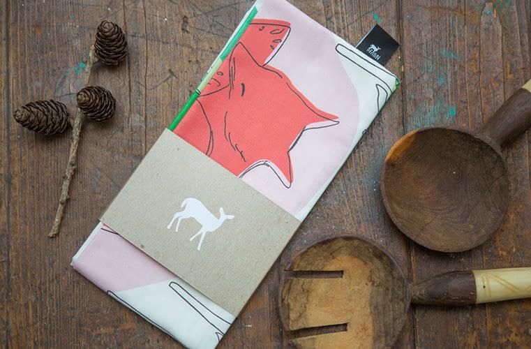 Product, tea towel, lifestyle, dublin, fawn