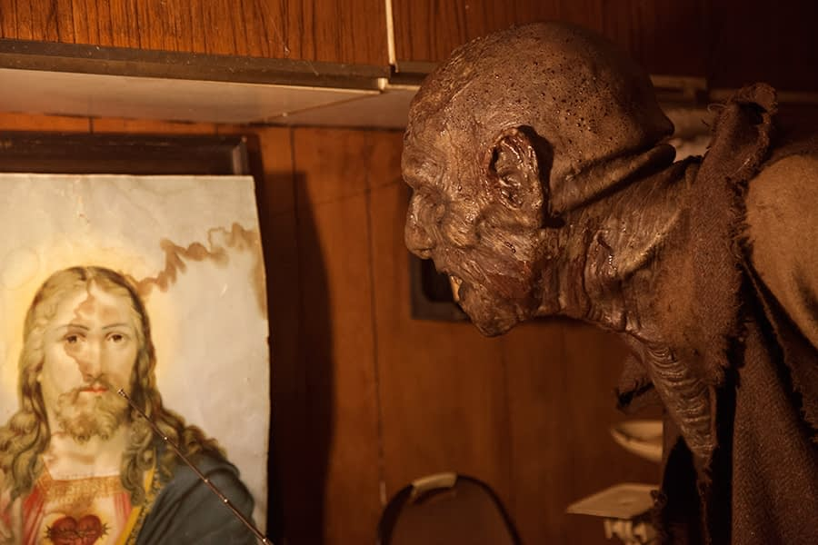 Monster, Jesus, horror, kitchen, Ireland, bog, unit Still
